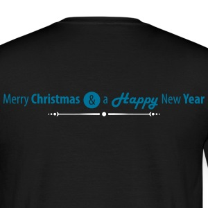 Merry Christmas and a Happy New Year Schriftzug T-Shirts - Männer T-Shirt