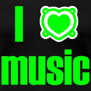 I heart music, I love music, Lautsprecher, Musik 2 T-Shirts - Frauen Premium T-Shirt