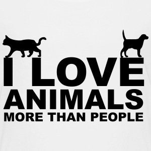 I Love Animals Shirts - Teenage Premium T-Shirt