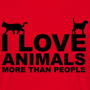 I Love Animals T-Shirts - Men's T-Shirt