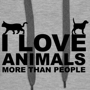 I Love Animals Sweat-shirts - Sweat-shirt à capuche Premium pour femmes