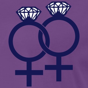 Lesbian Marriage Ring Symbol T-shirts - Premium-T-shirt herr