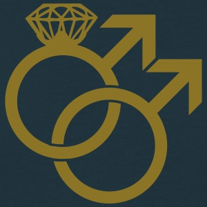 Gay Marriage Ring Symbol Tee shirts - T-shirt Homme