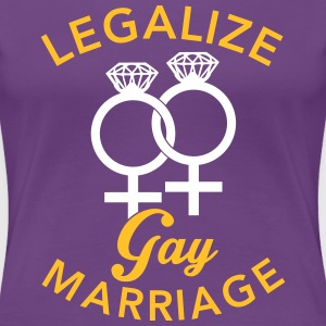 Legalize Gay Marriage - Lesbian T-shirts - Premium-T-shirt dam