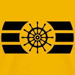 Ship Steering Wheel Logo T-Shirts - Men's Premium T-Shirt
