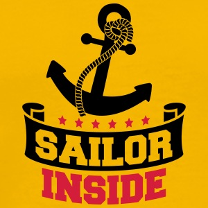 Sailor Inside Anchor Logo Design T-shirts - Herre premium T-shirt
