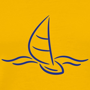 Sailing Boad And Waves Logo T-Shirts - Männer Premium T-Shirt