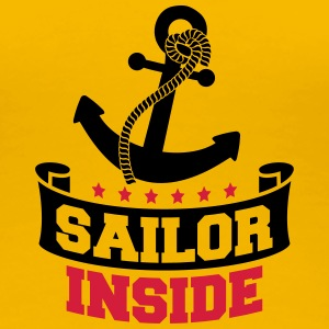 Sailor Inside Anchor Logo Design T-Shirts - Women's Premium T-Shirt