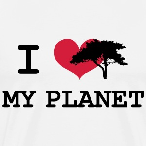 I Love my Planet Tee shirts - T-shirt Premium Homme