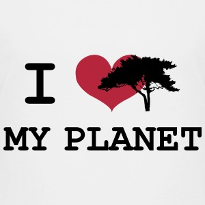 I Love my Planet Shirts - Teenage Premium T-Shirt
