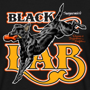black_labrador_jumping T-Shirts - Men's T-Shirt