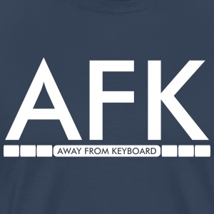 AFK - Away from keyboard T-shirts - Herre premium T-shirt