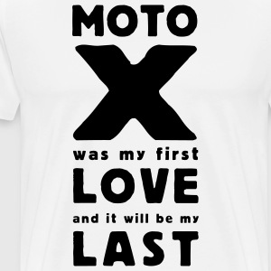 moto x first love T-shirts - Herre premium T-shirt