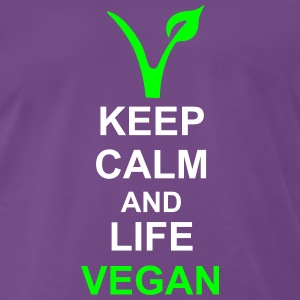 Keep calm vegan T-Shirts - Männer Premium T-Shirt