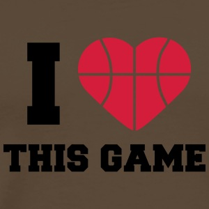 I Love This Game Basketball Logo Design Magliette - Maglietta Premium da uomo