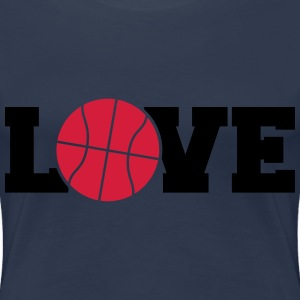 Love Basketball Logo Design T-Shirts - Women's Premium T-Shirt
