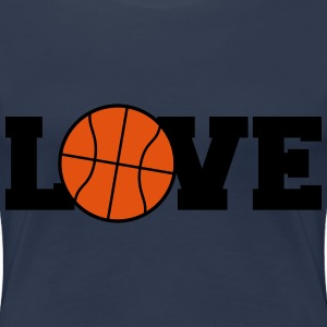 I Love Basketball Logo Design T-Shirts - Women's Premium T-Shirt