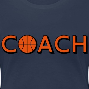 Basketball Coach Logo Design T-Shirts - Women's Premium T-Shirt
