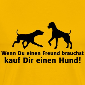 Hund Freund Dog Partner Mops Friend Pitbull T-Shirts - Männer Premium T-Shirt