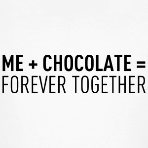 Me + Chocolate = Forever Togehther T-shirts - Ekologisk T-shirt herr