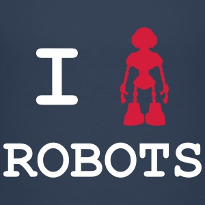 I Love Robots Shirts - Teenage Premium T-Shirt