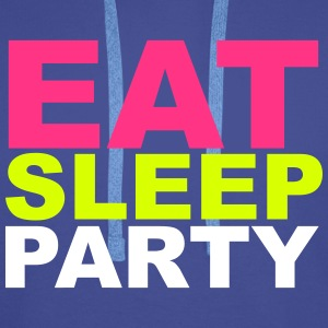 Eat Sleep Party Gensere - Premium hettegenser for menn