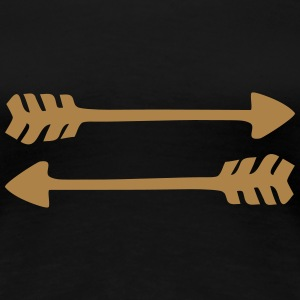 2 arrows, 2 directions, Native Indian War symbol  T-Shirts - Women's Premium T-Shirt