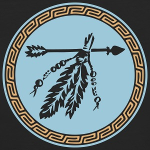 Arrow with feathers, Native American Indian tribes Magliette - T-shirt ecologica da donna