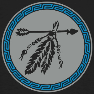 Arrow with feathers, Native American Indian tribes T-skjorter - Økologisk T-skjorte for menn