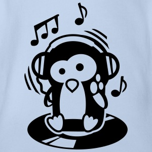Pinguin Maverick - Herr der Turntables T-Shirts - Baby Bio-Kurzarm-Body