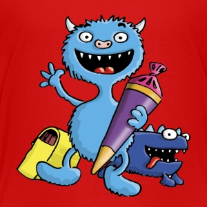 little_school_monster_a_102013 T-Shirts - Kinder Premium T-Shirt