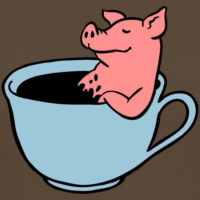 Schwein im Kaffee