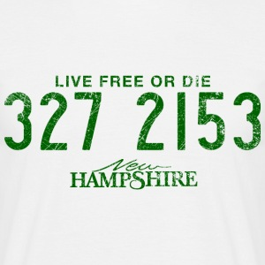 New Hampshire - Live Free or Die - T-shirt Homme