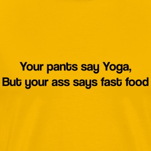 fast food & yoga T-shirts - Herre premium T-shirt