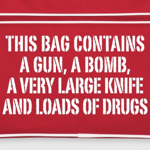 This bag contains a gun, a bomb … - Retro Tasche