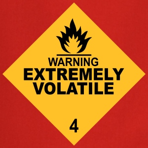 warning extremely volatile square II 2c  Aprons - Cooking Apron