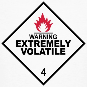 warning extremely volatile square I 2c Magliette - T-shirt ecologica da uomo