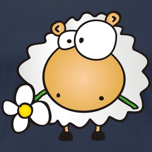 Blume und Schaf
