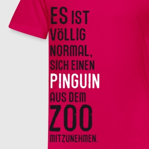 Kindershirt ein Pinguin aus dem Zoo - Kinder Premium T-Shirt