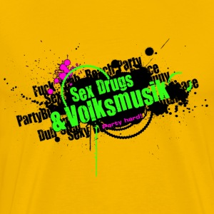 Sex Drugs & Volksmusik Party Hard Style Graffiti T-Shirts - Männer Premium T-Shirt