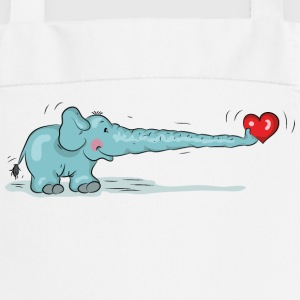 Elephant in love with heart  Aprons - Cooking Apron