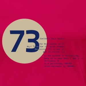 73 the best number BIG BANG Physikerin Lehrerin - Frauen Premium T-Shirt