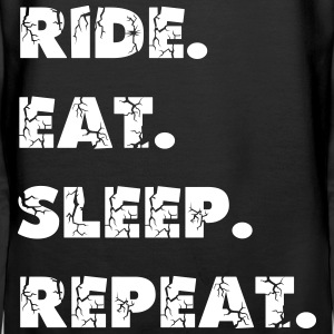 Ride, Eat, Sleep, Repeat Pullover & Hoodies - Frauen Premium Hoodie