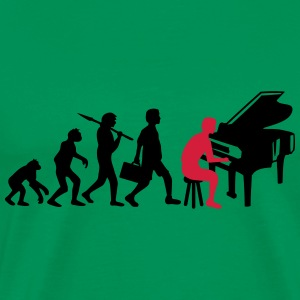 Piano Music Evolution Camisetas - Camiseta premium hombre