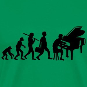 Piano Music Evolution T-skjorter - Premium T-skjorte for menn