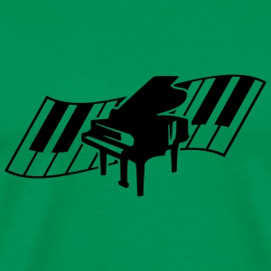 Piano Keys Music Design T-skjorter - Premium T-skjorte for menn