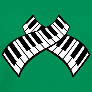 Piano Keys Pattern Design T-skjorter - Premium T-skjorte for menn