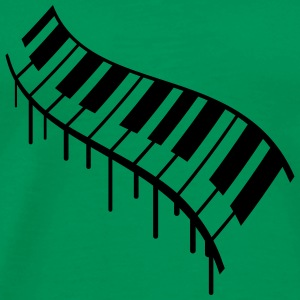 Piano Keys Graffiti Design T-skjorter - Premium T-skjorte for menn