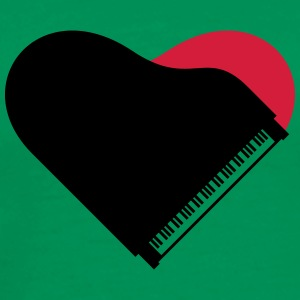 Piano Heart Love Design T-skjorter - Premium T-skjorte for menn