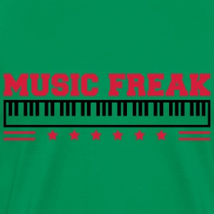 Music Freak Paino Design T-Shirts - Männer Premium T-Shirt
